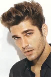 Mens short sides longer combed back top haircut