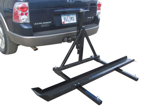 Trailer Hitch Motorcycle Rack by Trailer Hitch Mounted Dirt Bike Carrier Raises And