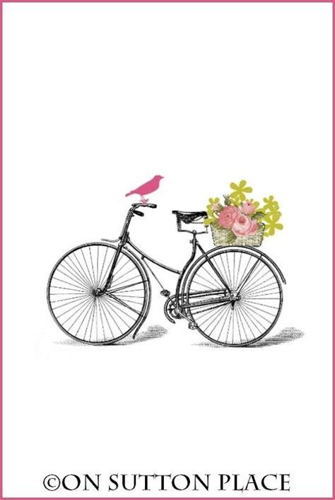 free printable wall art vintage free printable art bicycle happyeasterfrom com