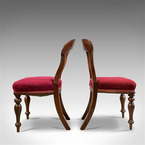 antique dining chairs  english victorian