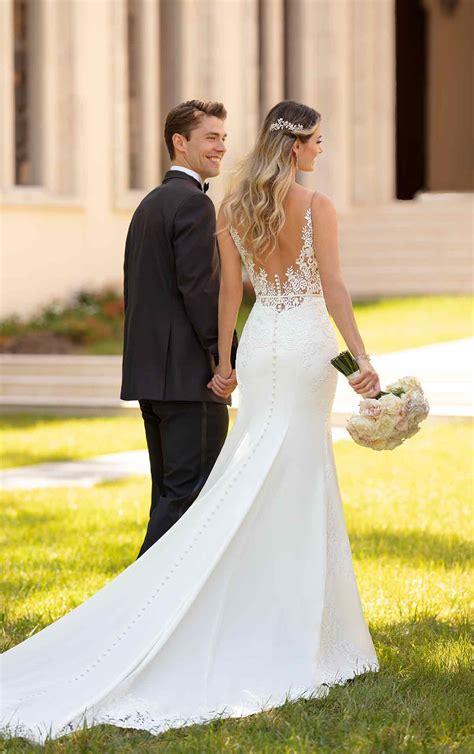 Simple And Sleek  Ee  Wedding Ee   Gown Stella York  Ee  Wedding Ee    Ee  Gowns Ee