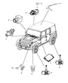 2014 Jeep Wrangler Parts Sensors For 2014 Jeep Wrangler Mopar Parts