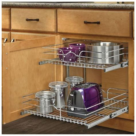 pull out sliding metal kitchen pot cabinet storage
