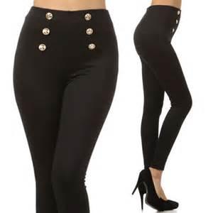 Duvet Covers With Buttons Black High Waist Sailor Pants Gold Buttons