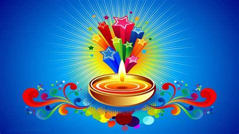 happy diwali celebration stars candle blu hd background  wallpaperscom