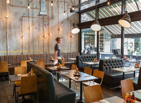 byron proper hamburgers charlie smith design biergarten restaurant design cafe restaurant cafe bar