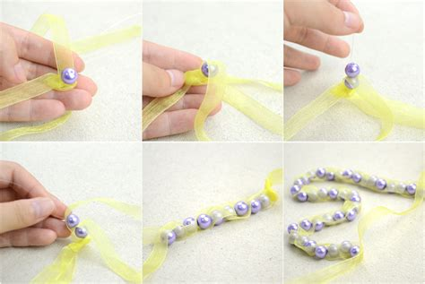 Handmade Jewellery Step By Step - handmade beaded necklaces out of pearls and ribbons 183 how