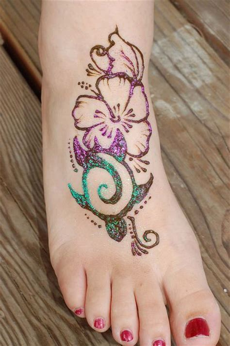 hawaiian sea turtle hibiscus henna henna designs