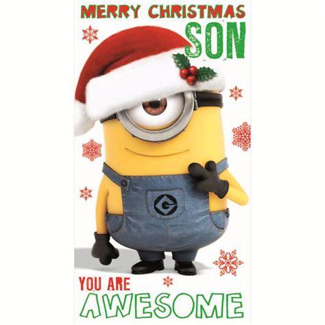 son minions christmas card minion shop