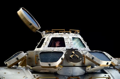 cupola iss this picture shows just how tiny the