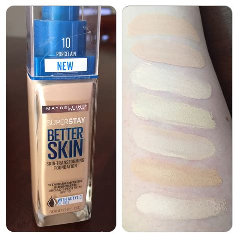 Maybelline Superstay Better Skin Foundation new maybelline superstay better skin foundation review demo swatches