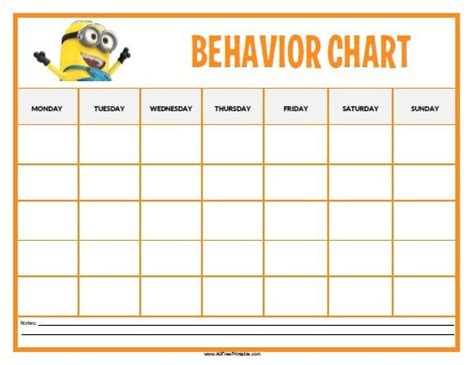 printable reward charts autism free printable minions behavior chart toddlers and