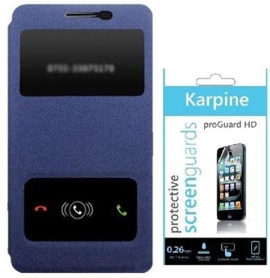 Flipcover Lenovo A6000 karpine lenovo a6000 flipcover screen guard combo set