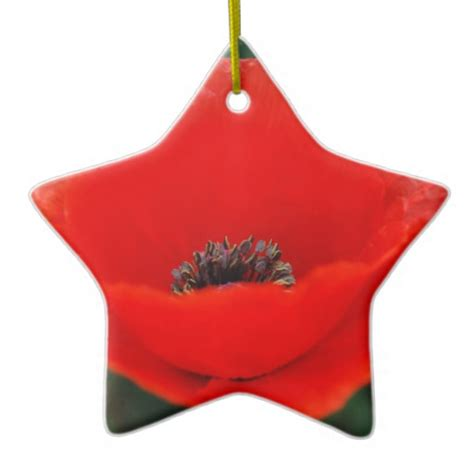 poppy flower and meaning christmas tree ornaments zazzle