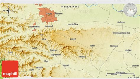 pune geographical map physical 3d map of pune