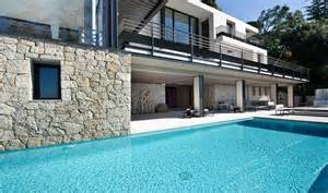Modern french villa exterior pool plan design olpos design