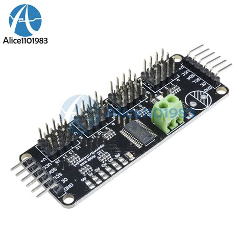 16 Channel 12 Bit Pwm Servo Shield I2c Interface 16 channel 12 bit pwm servo drive shield module i2c pca9685 for arduino new 664470454277 ebay