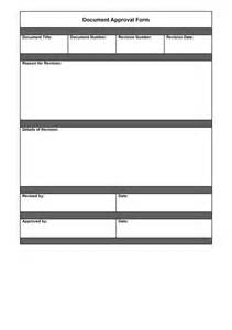 document approval form sample quality manual