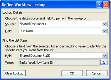 define workflow lookup create a workflow initiation form sharepoint