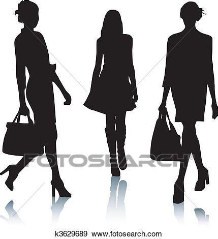 clipart donne clip silhouette moda donne k3629689 cerca
