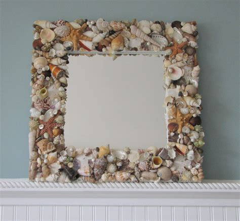 decor shell mirror nautical decor seashell