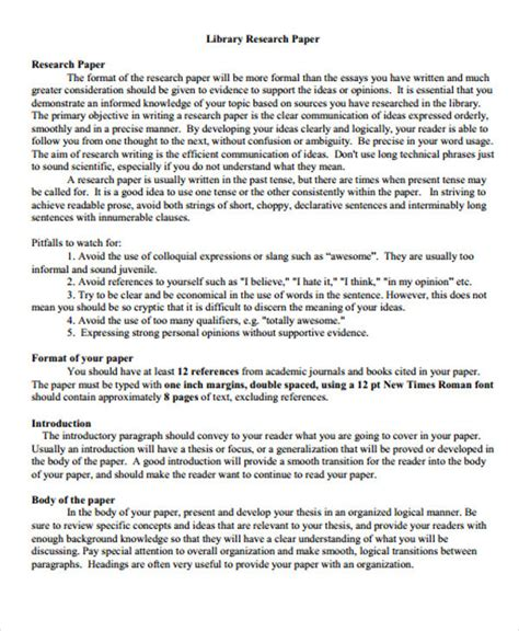 research paper library 27 research paper exles free premium templates