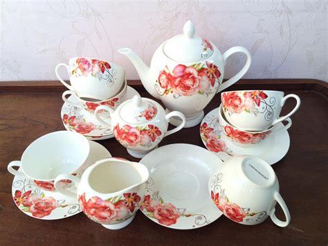 Tea Set Cangkir Lepek Dengan Tutup Cup Saucer Y85 Vicenza capodimonte tea set 17pc csh 2025 decoco