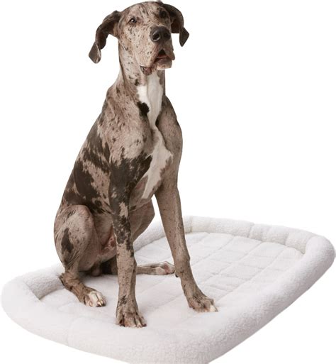 54 inch crate frisco quilted fleece pet bed crate mat ivory 54 inch chewy