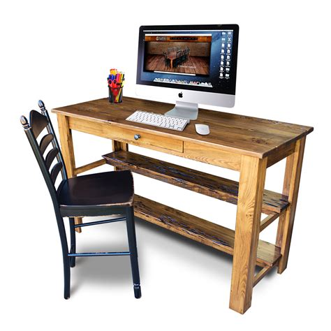 All Wood Desks by Carencro Style Pub Desk
