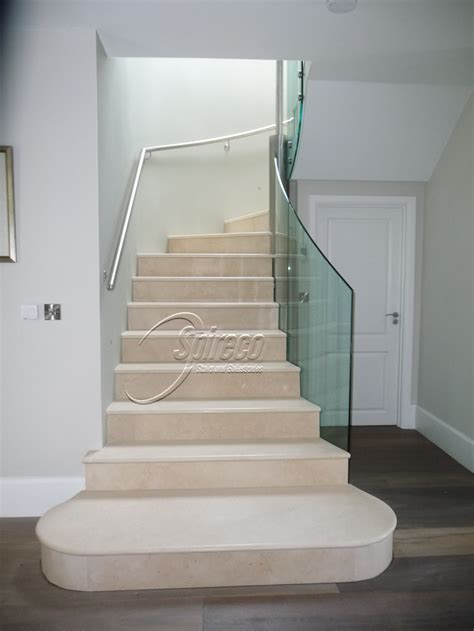 marble stairs marble clad stairs with glass balustrade spireco spiral