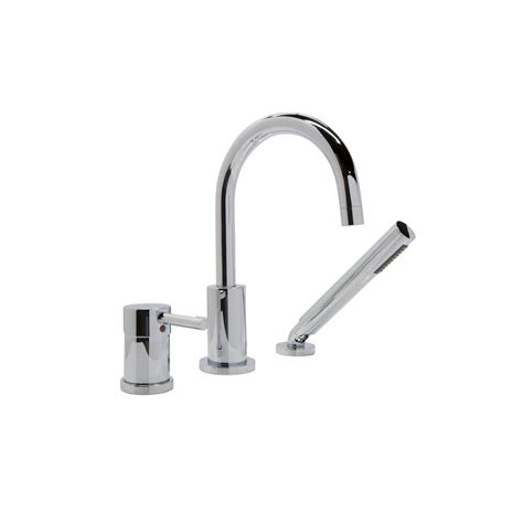 deck mount bathtub faucets anzzi mist series single handle deck mount roman tub