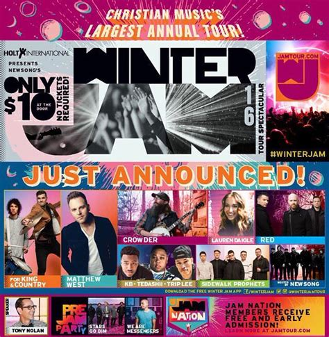 country fan 2017 lineup winter jam 2016 lineup announced