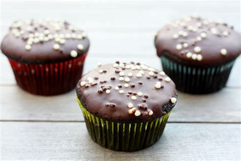 dairy free chocolate cupcakes with chocolate glaze first look then cook