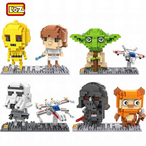 Loz Mini 1601 Convenience Store loz wars mini building blocks c3po r2d2 darth vader jedi yoda stormtrooper luke skywalker