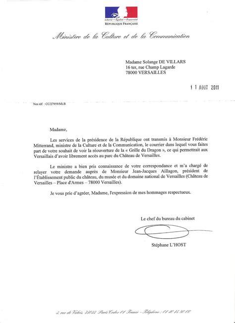 Modele De Lettre Administrative Ministre modele lettre administrative ministre
