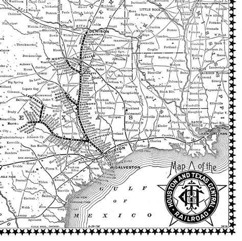 texas central railway map houston texas central railroad company tex timetable and map showing route in 1906