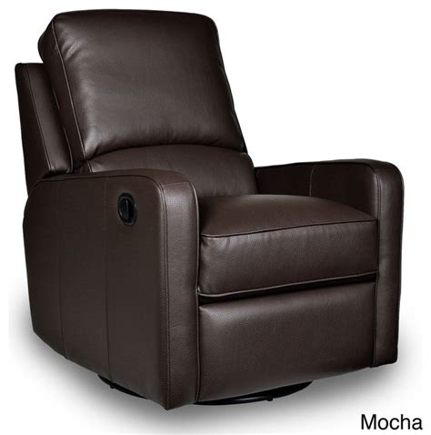 contemporary swivel recliner perth leather swivel glider recliner contemporary