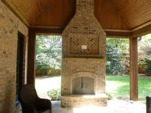 Patio Wood Burning Fireplace by Raleigh Durham Outdoor Fireplace Builder