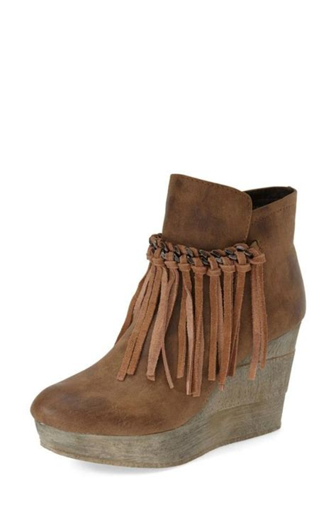 fringe booties sbicca fringe wedge bootie from colorado springs by