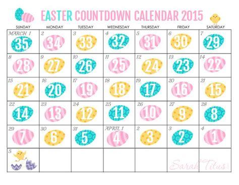easter 1973 calendar free printable countdown easter calendar 2015