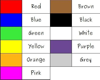 imagenes de ingles de los colores ingles colores en ingles