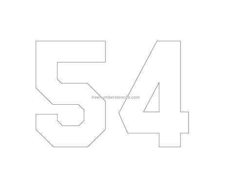 printable jersey numbers free jersey printable 54 number stencil
