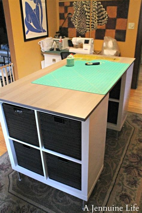 diy craft room table diy counter height craft table a jennuine