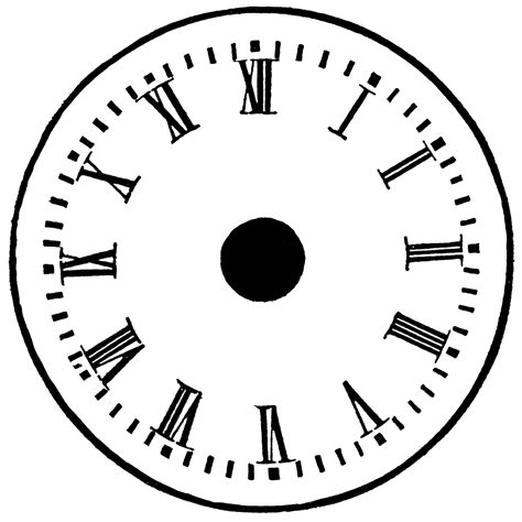 clock templates for printing printable blank clock clipart best