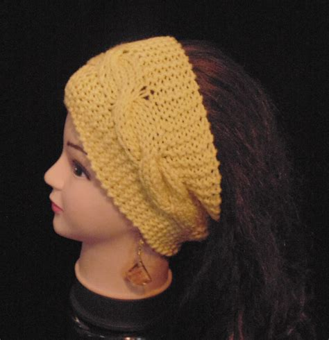 how to knit a ear warmer knit band womans headband knitted headband