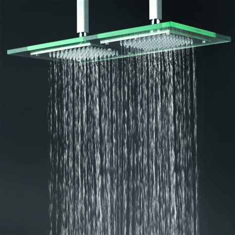 9 inch 18 inch glass square led rainfall