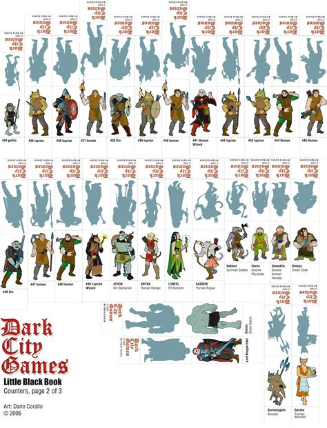D D Papercraft - dario s black book npcs 2