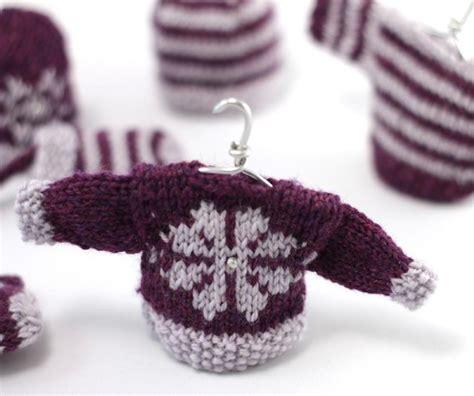 mini knitting pattern mini snowflake sweater decoration