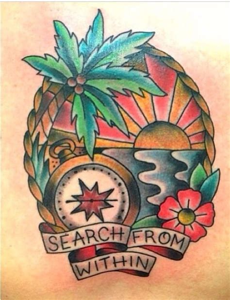 beach scene tattoo designs by carrie tattoos by carrie