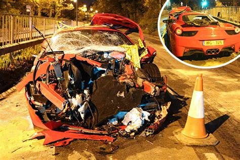 8 Ferrari Accident by Croydon Collision Four Rushed To Hospital And 163 450k
